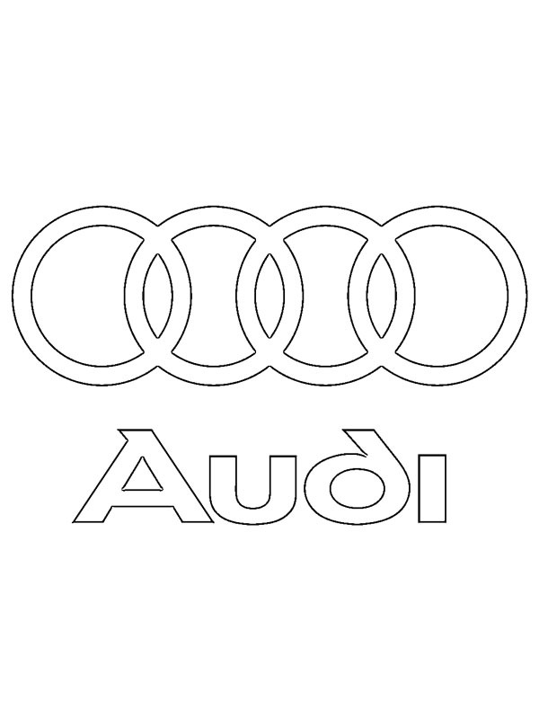 kolorowanka Audi logo   ladnekolorowanki.pl